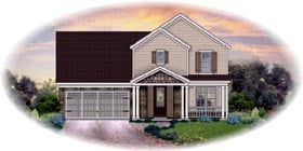 Traditional House Plan 48363 with 3 Beds, 2 Baths, 2 Car Garage Elevation