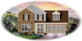 House Plan 48367 | Traditional Style Plan with 1941 Sq Ft, 3 Bed, 3 Bath, 2 Car Garage Elevation