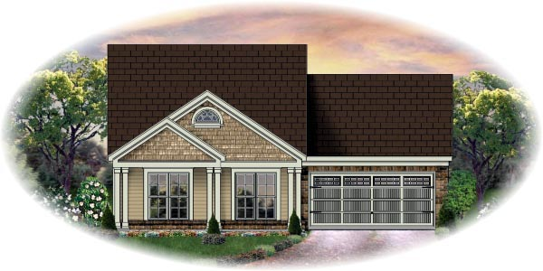 Traditional House Plan 48368 Elevation