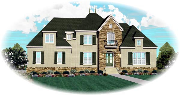 Country, European House Plan 48375 with 4 Beds, 4 Baths, 3 Car Garage Picture 1