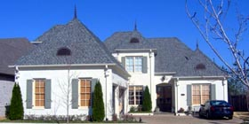 House Plan 48380   European Style Plan with 3651 Sq Ft, 4 Bedrooms, 4 Bathrooms, 3 Car Garage Elevation