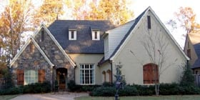 European House Plan 48383 with 3 Beds, 4 Baths, 3 Car Garage Elevation