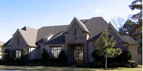 European House Plan 48396 Elevation