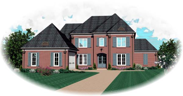 European House Plan 48500 Elevation