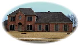 House Plan 48501 | European Traditional Style Plan with 3452 Sq Ft, 4 Bedrooms, 3 Bathrooms, 3 Car Garage Elevation