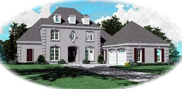 European Traditional House Plan 48502 Elevation