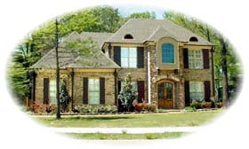 House Plan 48503 | European Traditional Style Plan with 3695 Sq Ft, 4 Bedrooms, 5 Bathrooms, 2 Car Garage Elevation
