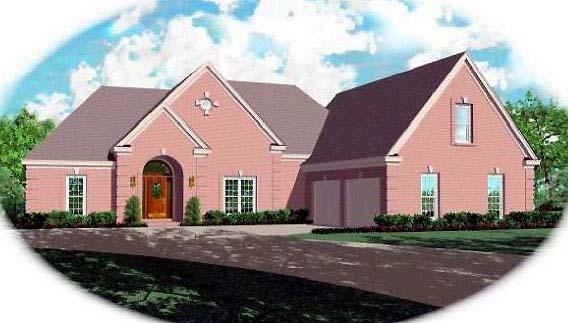European Traditional House Plan 48507 Elevation