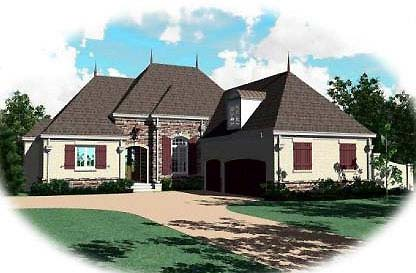 Country European House Plan 48510 Elevation
