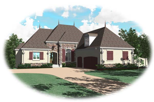 Country European House Plan 48512 Elevation