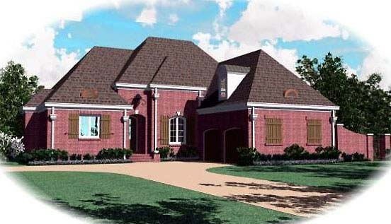 Country European House Plan 48513 Elevation