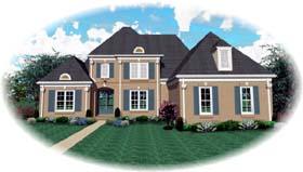 European House Plan 48516 Elevation