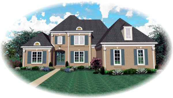 European House Plan 48516 Elevation