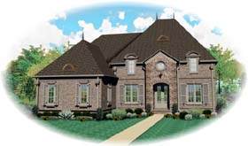 Country European House Plan 48527 Elevation