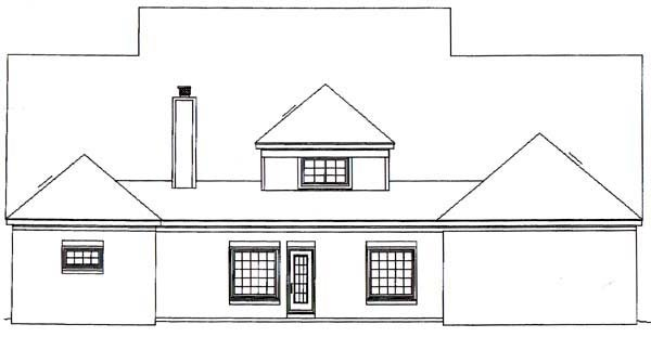 Traditional House Plan 48528 Rear Elevation