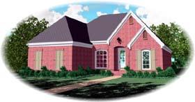 European House Plan 48529 Elevation