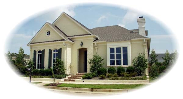 European House Plan 48530 with 3 Beds, 2 Baths, 2 Car Garage Elevation