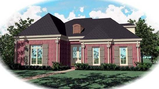 European House Plan 48535 Elevation