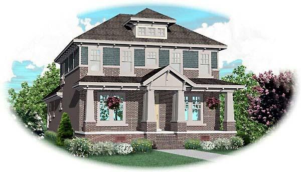 Craftsman House Plan 48537 Elevation