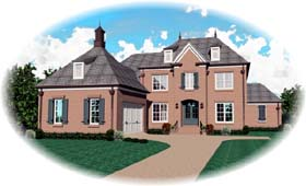 Country European House Plan 48538 Elevation