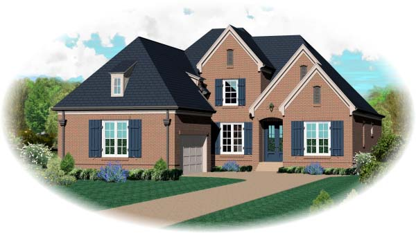 Country European House Plan 48540 Elevation