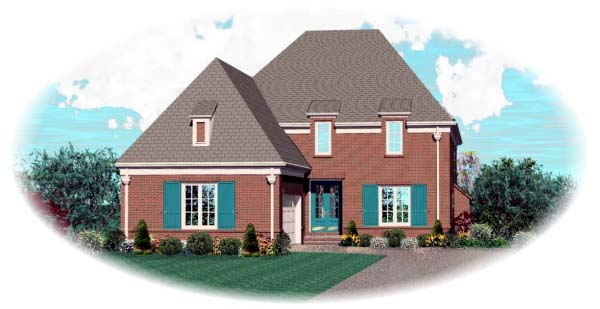 European House Plan 48544 Elevation