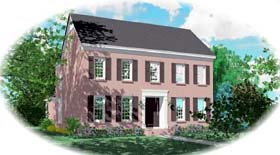 Traditional House Plan 48545 with 3 Beds, 3 Baths, 2 Car Garage Elevation