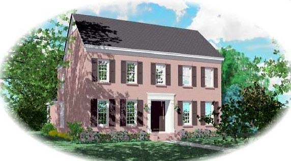 Traditional House Plan 48545 Elevation
