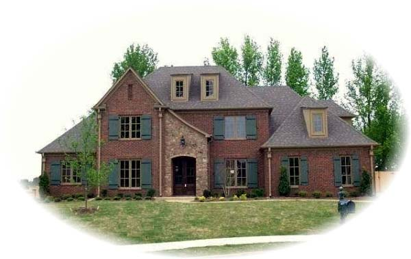 European Traditional House Plan 48546 Elevation