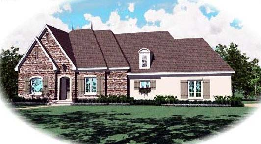 Country European House Plan 48548 Elevation