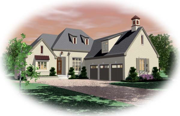 European House Plan 48549 Elevation