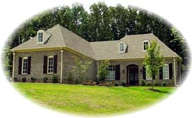 European House Plan 48558 with 4 Beds, 4 Baths, 3 Car Garage Elevation