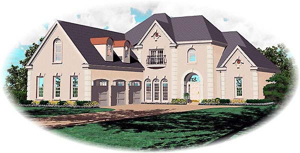 Traditional House Plan 48559 Elevation