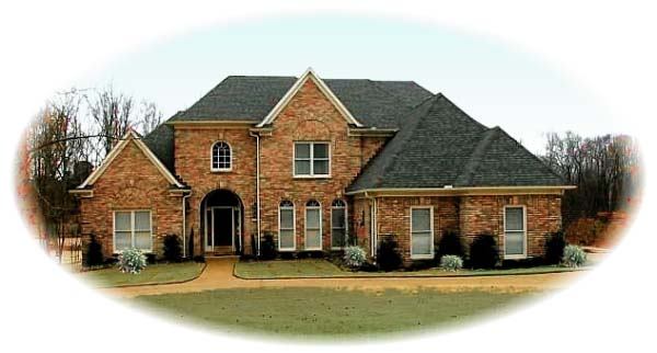 European House Plan 48562 Elevation