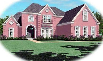 House Plan 48564 | European Style Plan with 4136 Sq Ft, 4 Bedrooms, 4 Bathrooms, 3 Car Garage Elevation