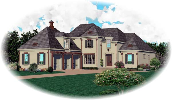 Country European House Plan 48566 Elevation