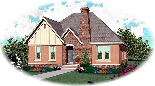 Craftsman House Plan 48567 with 3 Beds, 2 Baths, 2 Car Garage Elevation