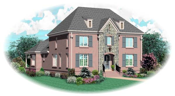 European House Plan 48574 Elevation