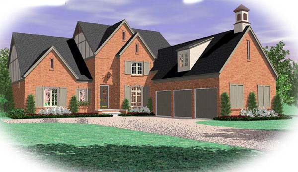 Country European House Plan 48575 Elevation