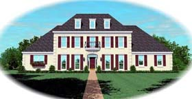 European Traditional House Plan 48578 Elevation