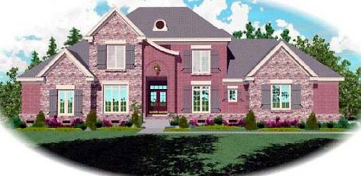 European House Plan 48579 Elevation