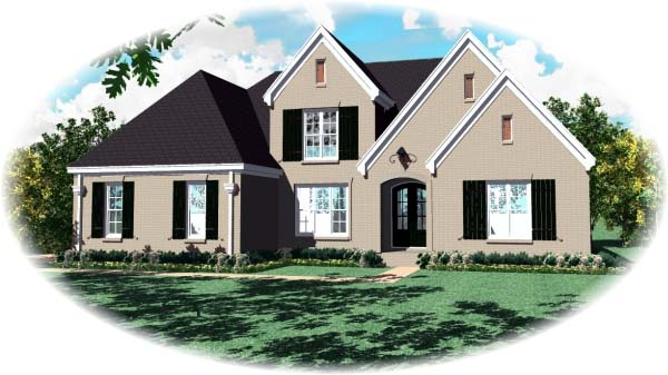 European House Plan 48580 Elevation