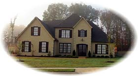 House Plan 48581 | European Style Plan with 3636 Sq Ft, 4 Bedrooms, 4 Bathrooms, 2 Car Garage Elevation