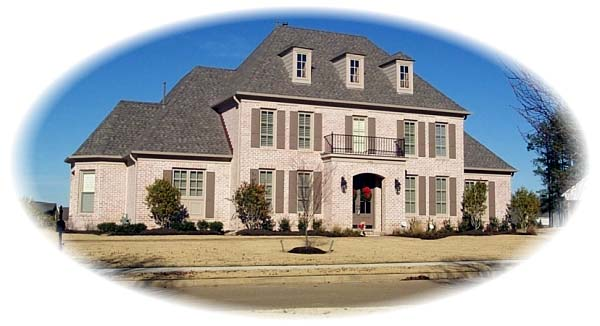 European , Traditional House Plan 48586 with 3 Beds, 5 Baths, 3 Car Garage Elevation