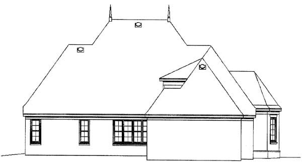 European Traditional House Plan 48587 Rear Elevation