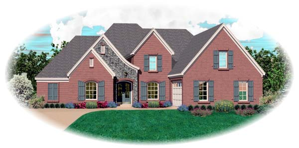 Country European House Plan 48588 Elevation