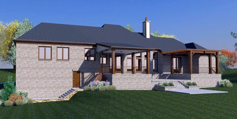 French Country House Plan 48590 Rear Elevation