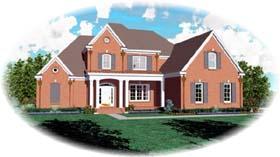 European House Plan 48592 Elevation