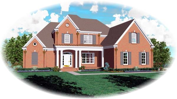 European House Plan 48592 Elevation