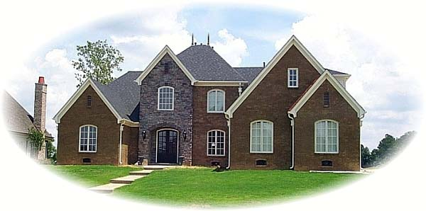 European Traditional House Plan 48594 Elevation